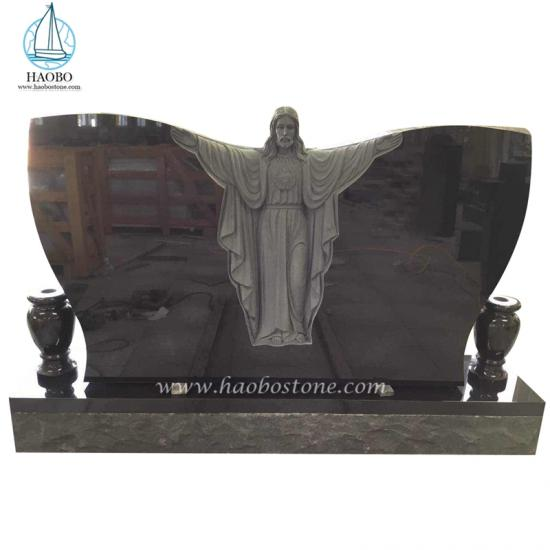 Butterfly Shaped Jesus Carved Funerary Tombstone