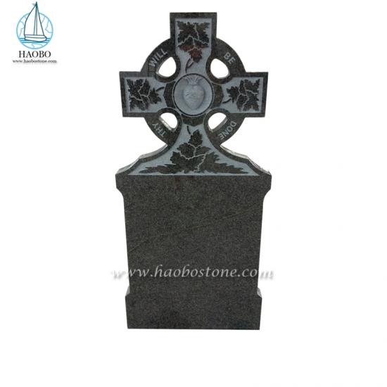 G654 Granite Celtic Cross Headstone