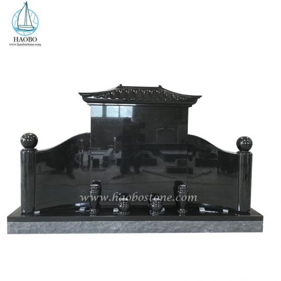 Chinese Style Roof Top Granite Tombstone