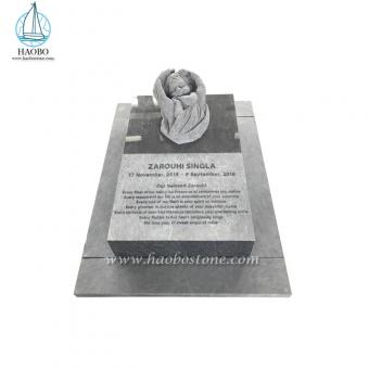 Granite Baby Angel Carved Marker Monument