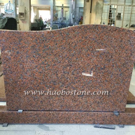 G562 Maple Red Granite Gravestone