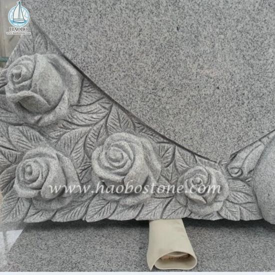 G633 Grey Granite Memorial Headstone