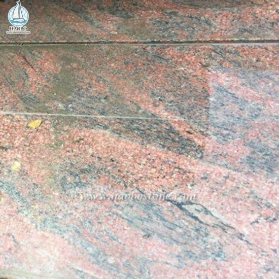 Red Granite Dalva Tombstone