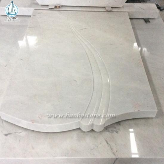 China White Marble Carved Tombstone
