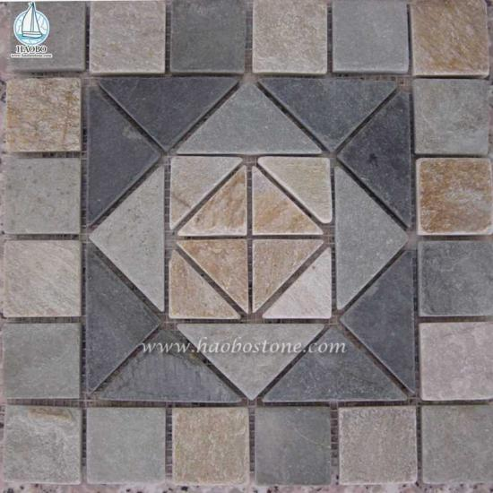 Granite Stone Mosaic Floor Tile