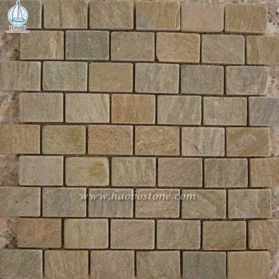 Natural Stone Mosaic Wall Cladding for Exterior Decoration
