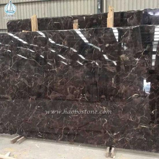 China Coffee Grid Granite Slab