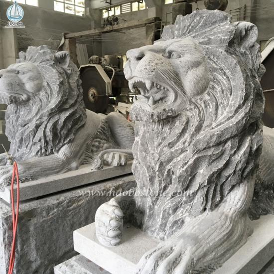 Granite Animal Lion Sculpture