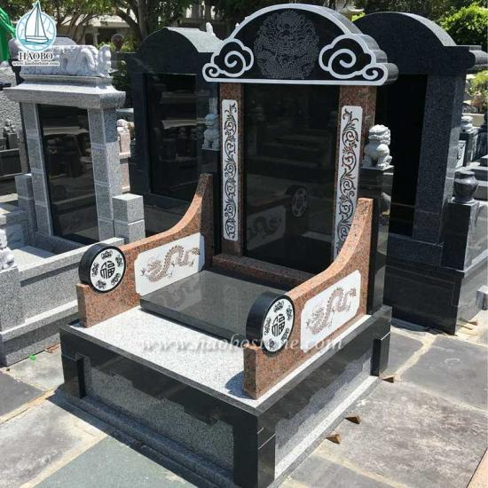 Chineses Style Granite Funeral Tombstone