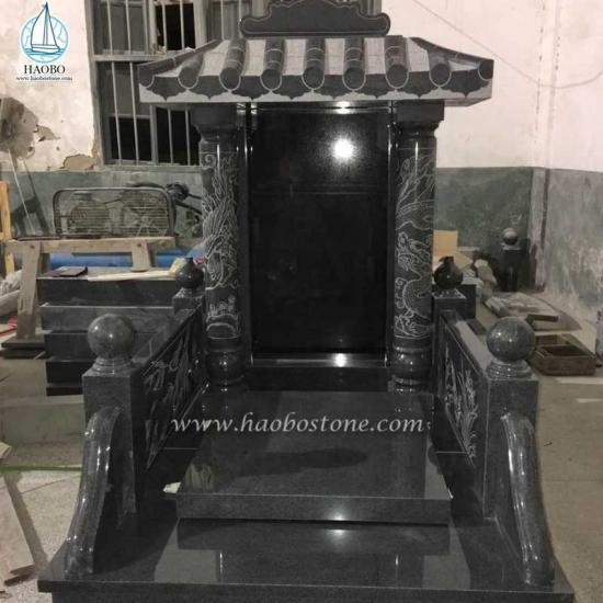 Grey Granite Roof Top Shaped Monument