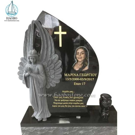 India Black Angel Tombstone