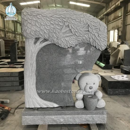 Teddy Bear Cartoon Gravestone